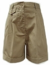 Classroom Girls Pleated Cuffed School Shorts<br>SALE ITEM: reg $14.95