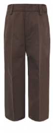 French Toast Boys Flat Front Brown School Pants