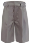 Rifle Mens Light Grey Flat Front Uniform Shorts