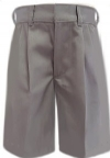 Rifle Mens Pleated  Grey Uniform Shorts