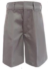 RG Clothing Boys School Shorts Grey Elasticated Waist and Side Pockets