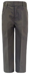 Royal Park Boys Plain Front Grey School Uniform Pants