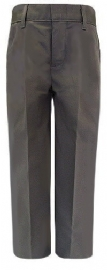 Royal Park Boys Flat Front Grey Adjustable Waist School Pants