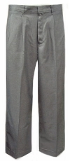 Royal Park Boys TriBlend Gray Pleated Uniform Pants