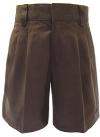 Boys French Toast Pleated Brown School Shorts