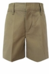 School Apparel Girls Flat Front Brushed Twill School Shorts