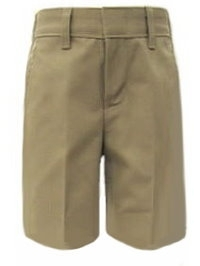 School Apparel Boys Plain Front Brushed Twill School Shorts