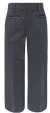School Apparel Girls Mid-Rise School Pants