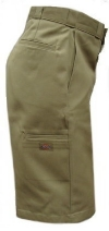"Dickies Young Mens Flat Front 13"" Multi-Pocket Uniform Shorts"