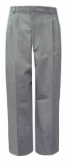 Elderwear Junior Grey Pleated School Pants<br>SALE ITEM: reg $22.95