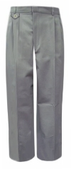 Rifle Girls Light Grey Pleated School Pants