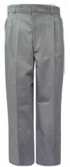Rifle Young Mens Pleated Gray School Pants