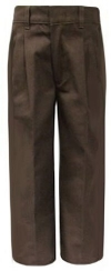 Rifle Boys Pleated Brown School Pants