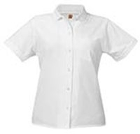 Girls Button Down Oxford School Uniform Shirts